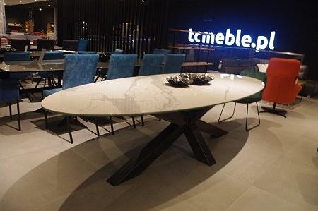 Stół bazalt 12 noga surowa