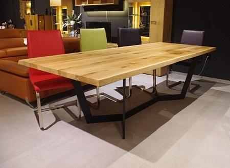 Stół fermo industrialny blat lite drewno
