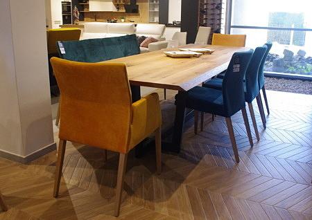 Stół largo dębowy blat ścięty stół loft