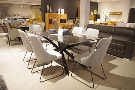 Zestaw krzeseł do salonu loft