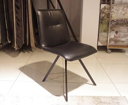 Czarne krzesła industrialne