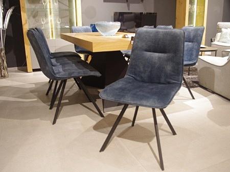 Krzesła niebieskie 8 sztuk