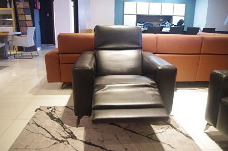 Fotel bellagio czarna skóra