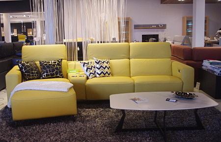 Bellagio narożnik żółty do salonu