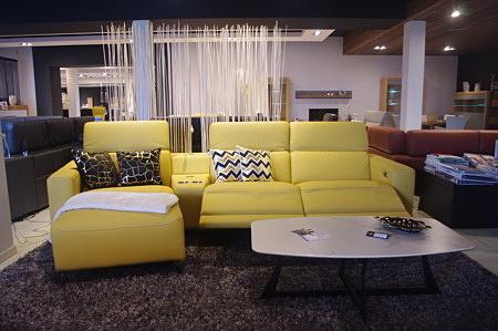 Bellagio narożnik żółty rozkładany