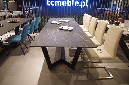 Stół z blatem kamień marmur