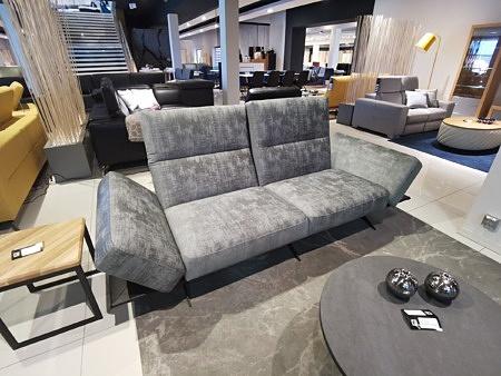 Szara nowoczesna kanapa z materiału tkaniny glamur producent mebli tapicerowanych dobrodzień
